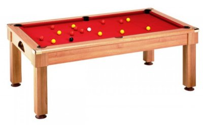 Windsor Pool Dining Pool Table in Walnut Finish