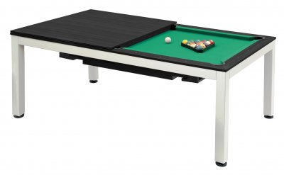Dynamic Vancouver 7ft American Pool Diner - Dark Ebony table with STANDARD Yellow Green Cloth