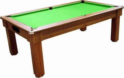 Optima Tuscany Dark Walnut Pool Dining Table - Green Cloth