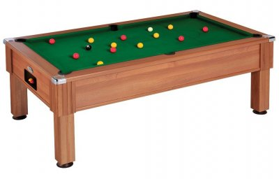 DPT Consort Walnut Pool Table with Green Wool Cloth