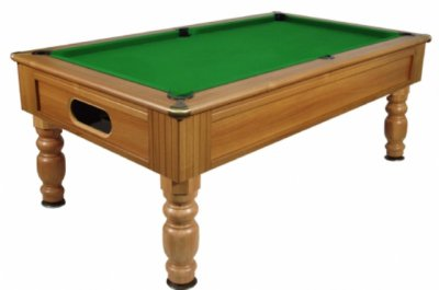 Optima Monaco Pool Table - Walnut Finish with Green Cloth
