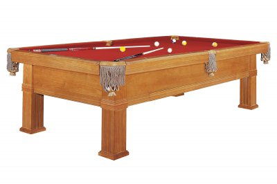 Dynamic Bern Dark Oak Pool Table - Fitted with Standard Burgundy Cloth