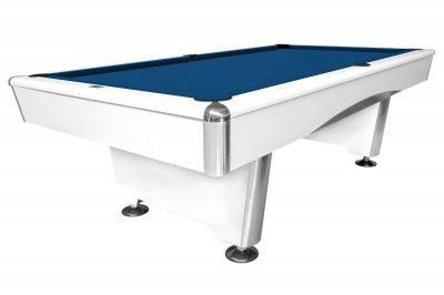 Triumph White Pool Table Fitted with STANDARD Royal Blue Cloth