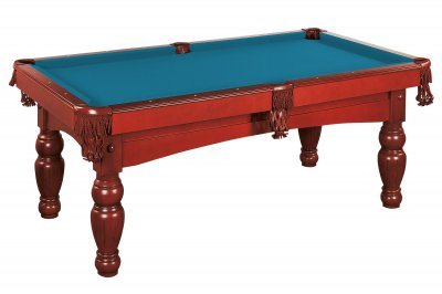 Dynamic Kiev Pool Table in Mahogany - Fitted with STANDARD Electric Blue Cloth