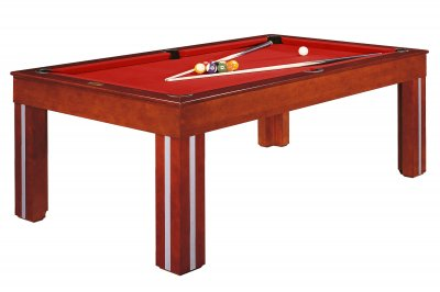 Dynamic Granada Pool Dining Table - Fitted with Red STANDARD Cloth