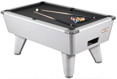 Aluminium Finish Winner Pool Table with Black Wool Cloth