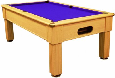 Paris Light Oak Pool Table with Blue Cloth