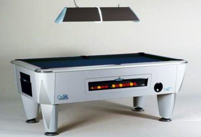 Sam Atlantic Coin Operated Pool Table - Silver Cabinet Finish