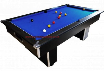 Gatley Classic Slimline 7ft Pool Table with Blue Cloth