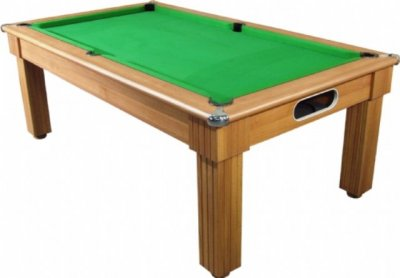 Florence Pool Dining Table in a Walnut Finish with Green Cloth
