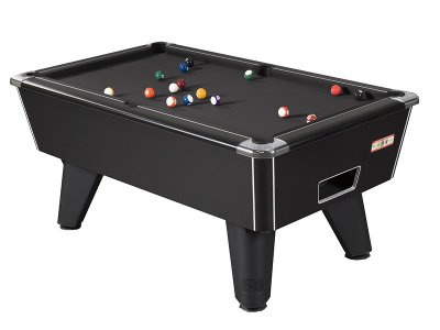 Black Winner Pool Table with Black Wool Cloth