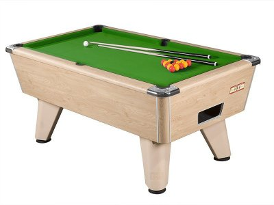 Oak Winner Pool Table with Green Wool Cloth
