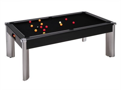 Fusion Black Pool Table with Black Cloth