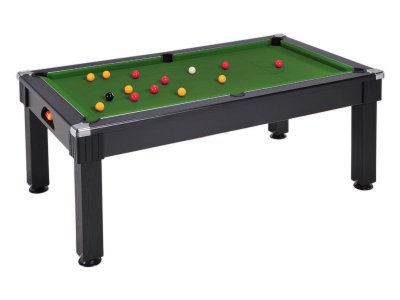Windsor Pool Dining Table in a Black Finish with Green Cloth