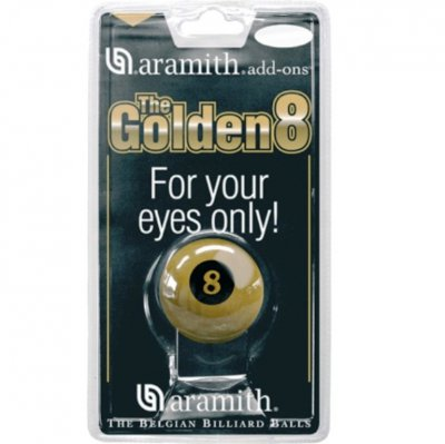 Aramith Golden 8 Ball - 2 1/4 Inch American Size
