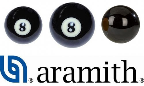 Aramith Pool and Snooker Black Balls - UK and American Size