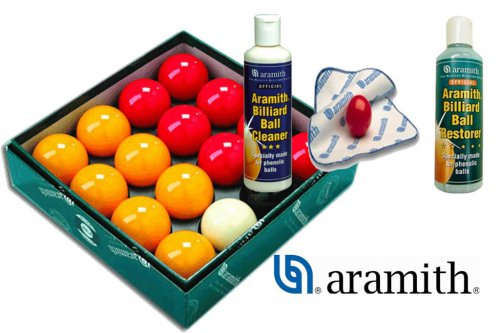 Aramith Pool Balls and Pool Cleaning Kit