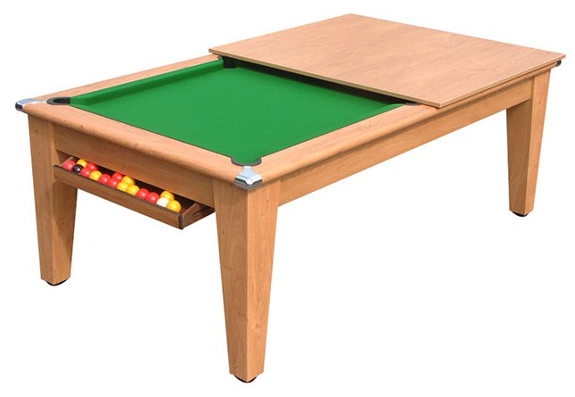 Classic pool dining table pool tables online classic pool dining table in oak greentooth Images