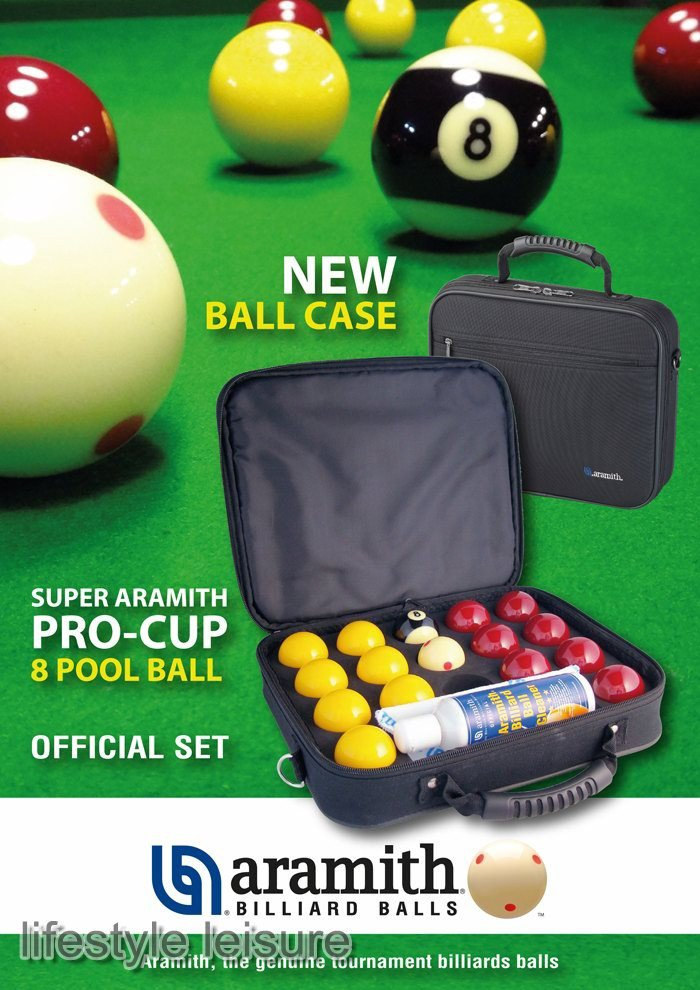 Aramith Pro Cup 2 Inch Red And Yellow Ball Set In Case