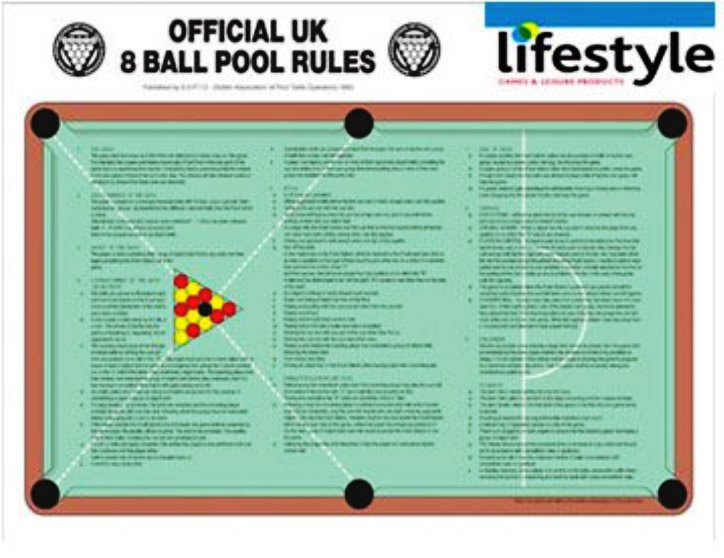 Pool Table Rules Uk Pool Rules Sheet Pool Tables Online