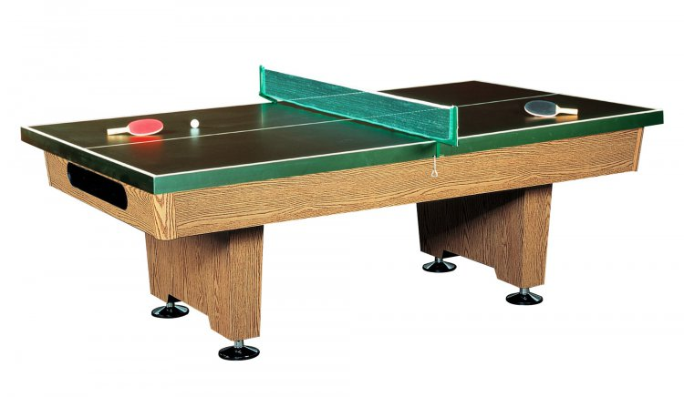Eliminator dynamic 7ft slate bed american table oak for 1 inch slate pool table