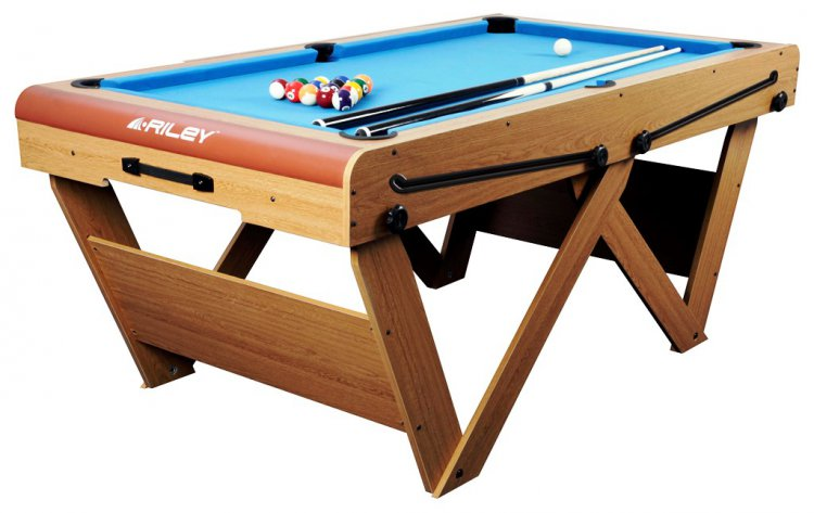 Riley Ft Rolling Lay Flat Folding Pool Table FSPW Pool Tables - Rolling pool table