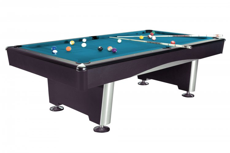 Triumph Black Pool Table Fitted With Standard Cloth