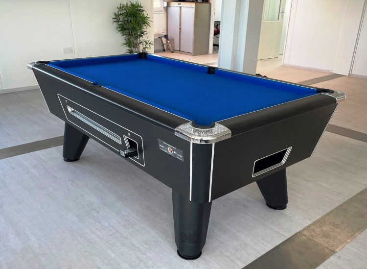 Supreme Winner Coin Operated Pool Table Black | Pool Tables Online