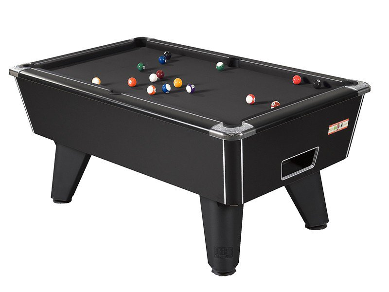 Lovely Black Winner Pool Table With Black Wool Cloth