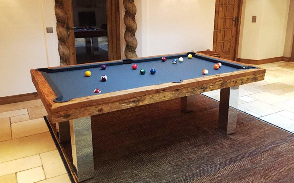 Billard Toulet Megeve Slate Bed Pool Table UK American Pool - Billiards table online