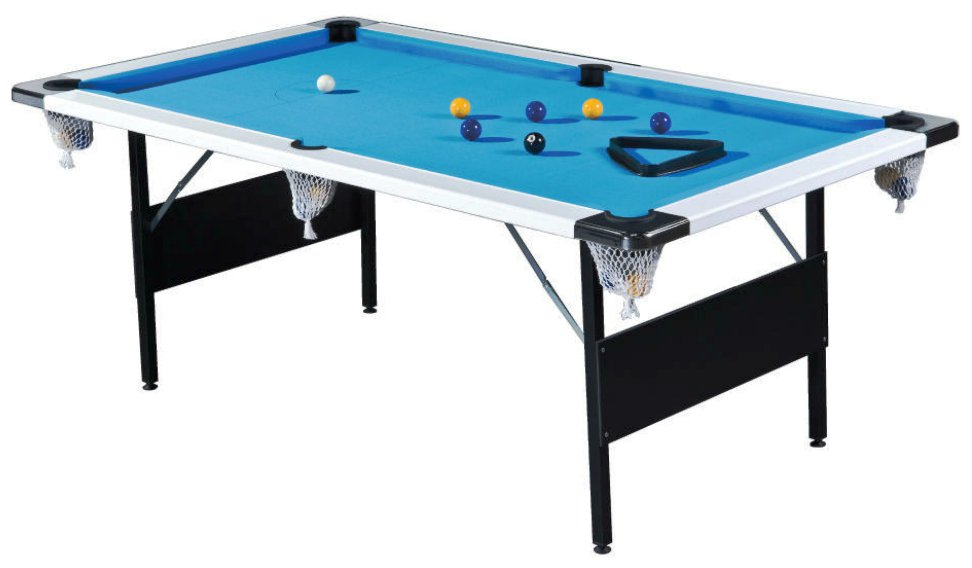 7ft Deluxe Wood Bed Pool Table Folding Legs Pool