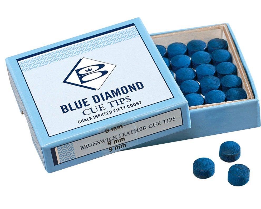 Brunswick Blue Diamond Pool Cue Tips X 50 Pool Tables Online